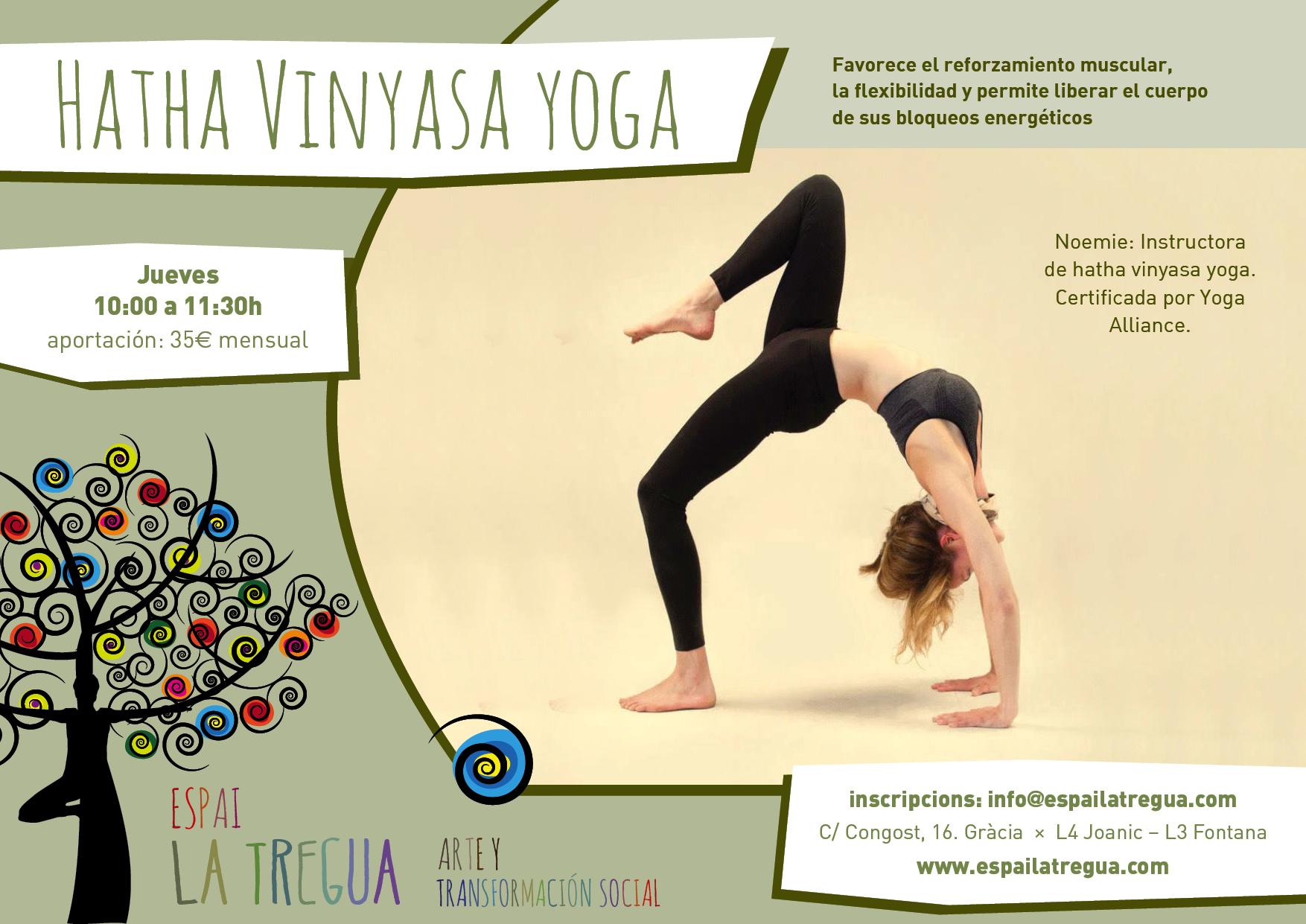 Hatha Vinyasa yoga-sala-danza-alquiler-barcelona